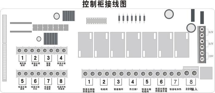 智恩FF34型太阳能集热控制柜工程安装简图/控制柜接线图-智恩太阳能控制柜
