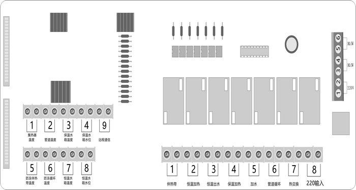 智恩GLC01型太阳能集热控制柜工程安装简图/控制柜接线图-智恩太阳能控制柜